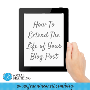 Example: How To Extend the Life of Your Blog Post