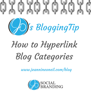 How To Hyperlink Blog Categories - JO Social Branding